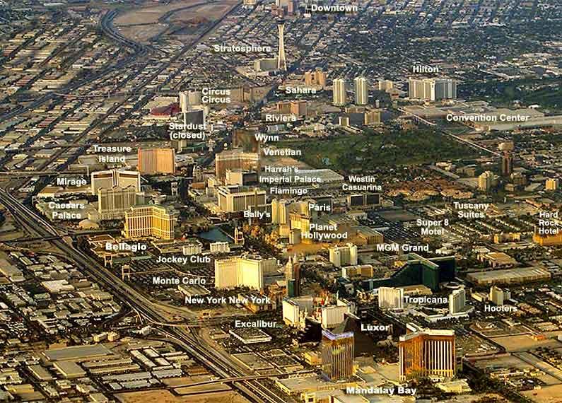 Smartervegascom Strip Map D Las Vegas Nevada - The strip map las vegas nv