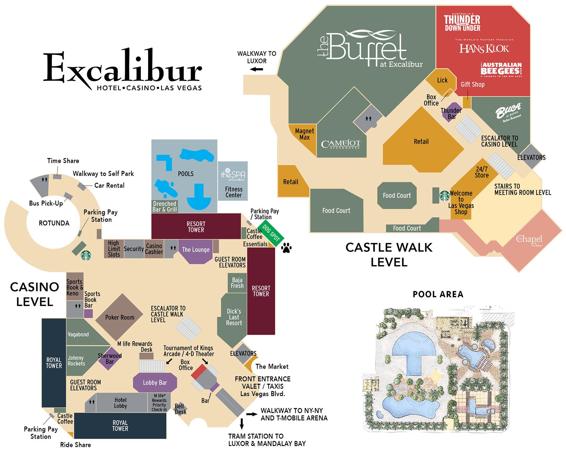 Excalibur casino map epiphone revolution casino