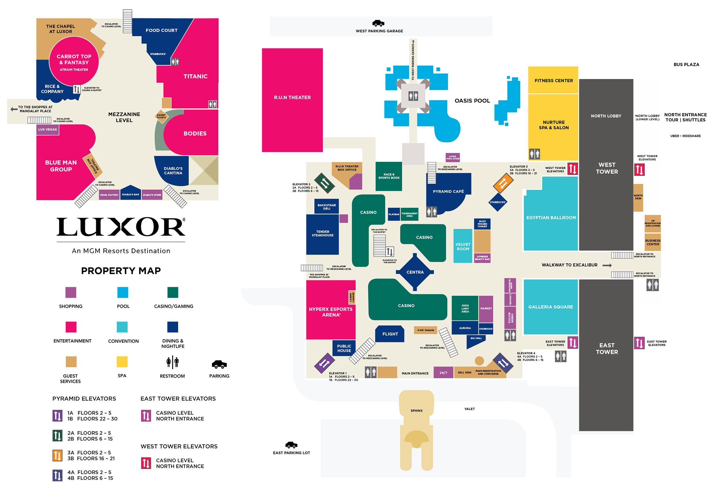 Luxor Casino Property Map Amp Floor Plans Las Vegas