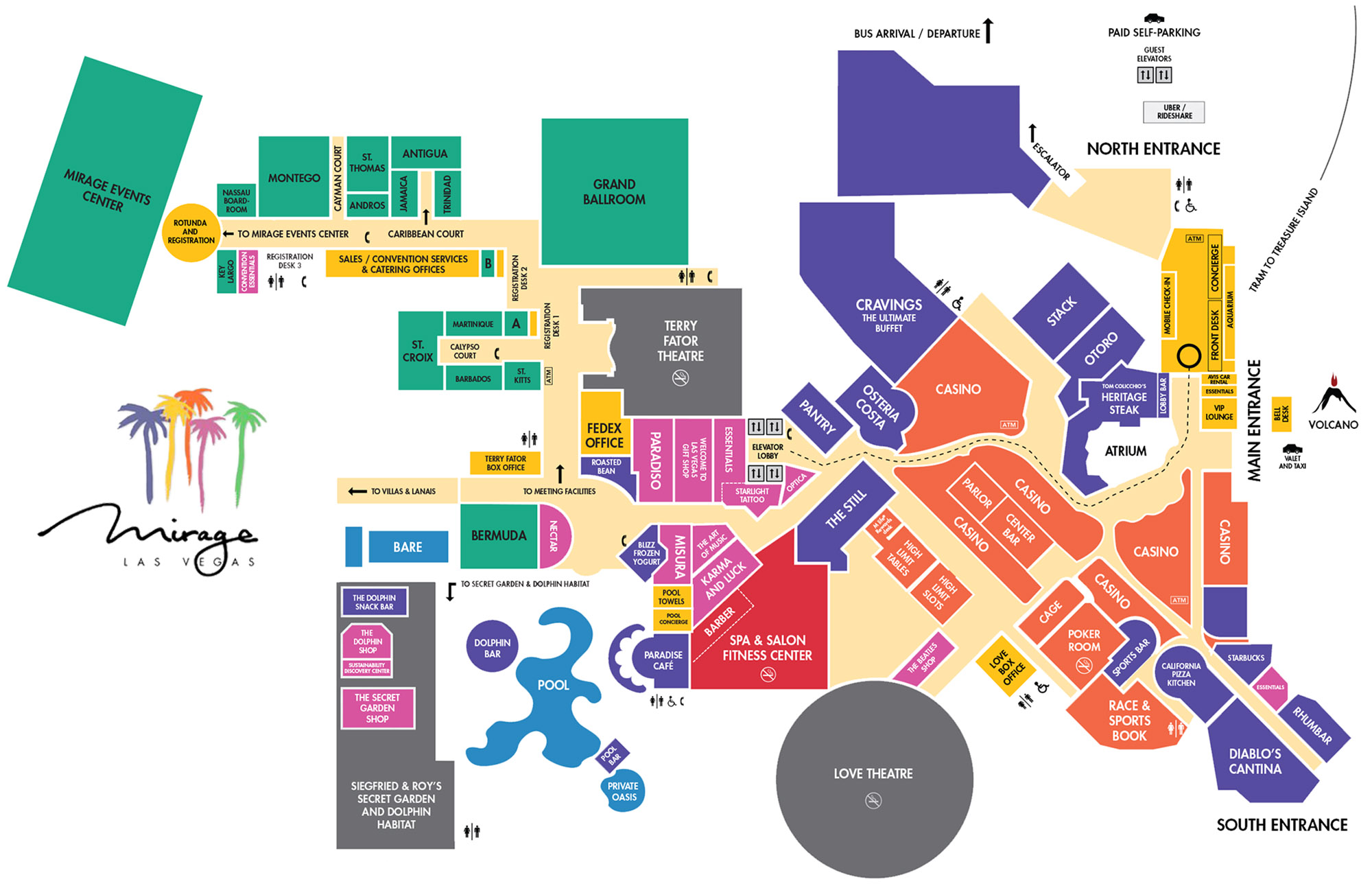 Mirage Casino Property Map Floor Plans Las Vegas