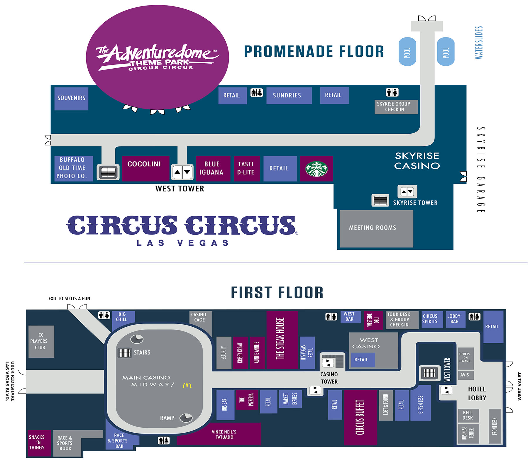Circus Circus Casino Property Map Amp Floor Plans Las Vegas