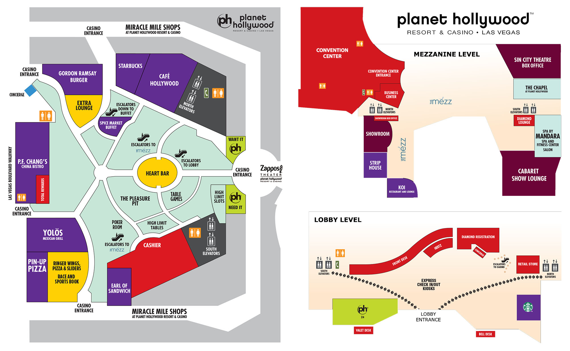 Planet Hollywood Resort & Casino floor plan | Las Vegas Tax Forums & Expo 2020
