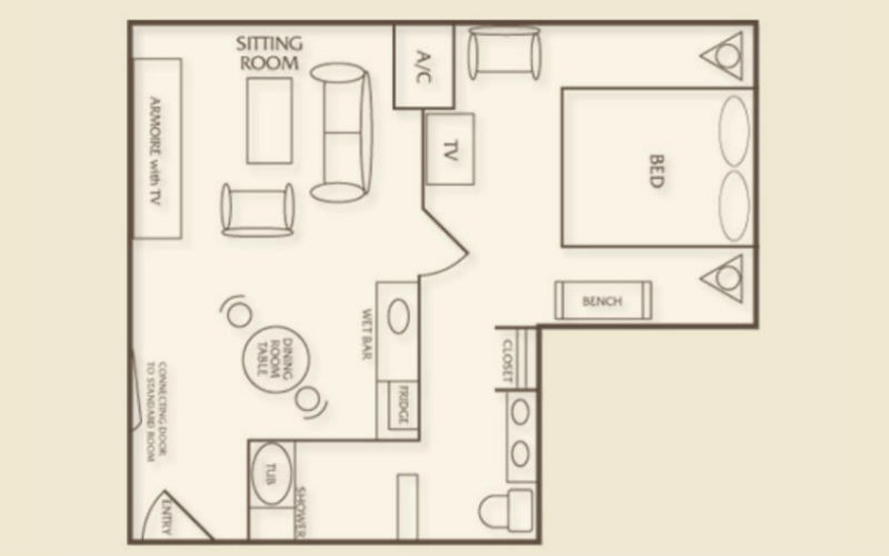 Luxor tower one bedroom luxury suite bedroom review design for House plans with tower room