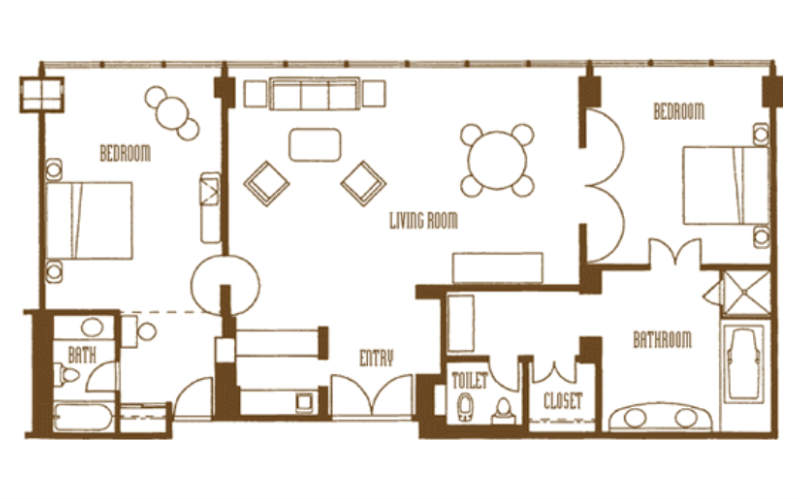 Mirage las vegas floor plan mirage casino property map for House plans with tower room